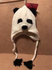 Mambo Australia Panda Winter Hat One Size Fits Most White Very Warm