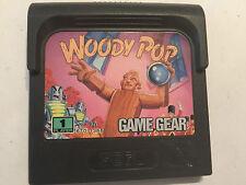SEGA GAME GEAR GAMEGEAR GAME CARTRIDGE WOODY POP PAL TESTED & GWO