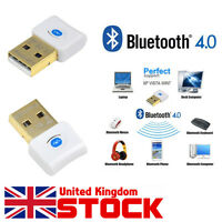 Mini USB 2.0 Bluetooth V4.0 Dongle Wireless Adapter For PC Laptop White