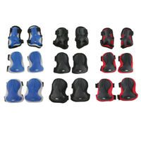 6 Pcs Unisex Adult Roller Skating Adjustable Knee Wrist Guard Elbow Pad Safety