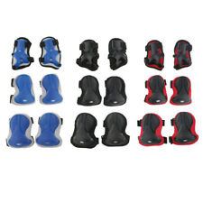 6 Pcs Unisex Adult Roller Skating Adjustable Knee Wrist Guard Elbow Pad Safety