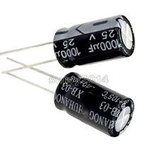 20Pcs 1000uF 10V 105°C Radial Electrolytic Capacitor 8x12mm