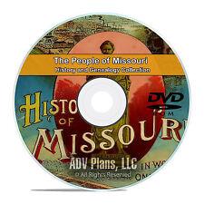 Missouri MO People & Civil War History and Genealogy 121 Rare Books DVD CD B23