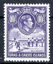 Turks & Caicos Island KGVI 10/- Cat £32 mmint SG205  [T905]