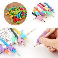 5pcs 1-finger Grip Silicone Kid Baby Pen Pencil Holder Help Learn Write Tool New