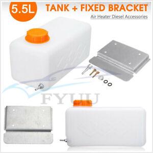 5.5L Plastic Fuel Oil Gasoline Tank+Screw Bracket For Car SUV Air Heater Diesel