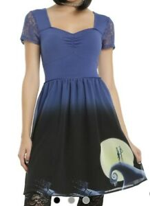 Disney Hot Topic The Nightmare Before Christmas Snow Hill Lace Dress