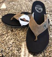 New Men's Margaritaville Tan Sandal Flip Flop US Size 10
