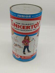 TinkerToy Construction Set 66 Pieces Junior Builder Set Complete
