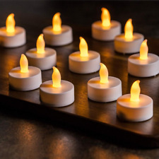 Vont LED Tea Light Candles, Flameless C ##&##, Flickering, Battery Powered Fake