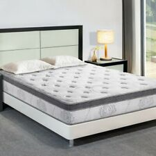 Gel Memory Foam Mattress King Spring Hybrid Coil Mattresses Multi Layers 13 Inch