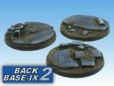 60mm Resin Scenic Bases (3) Round Ruins Warhammer