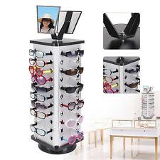 Square 360rotating Sunglass Display Rack 44pairs Glass Freestand Holdermirror