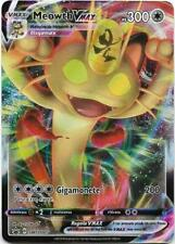 POKEMON MEOWTH VMAX SWSH005 FULL ART BLACK STAR PROMO HOLO SPADA E SCUDO