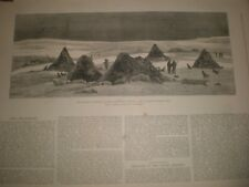 American Franklin Search Expedition camp at King William's Land 1881 print