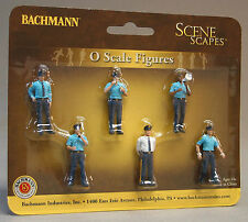 BACHMANN O GAUGE POLICE SQUAD figures people train cops military scenery 33154