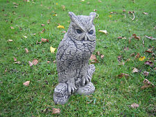 Owl e stone garden ornament  VISIT MY SHOP