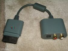 MICROSOFT XBOX 360 OFFICIAL GENUINE HDMI AUDIO OUTADAPTER Digital Optical & RCA