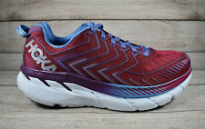 Hoka One One Clifton 4 Running Shoes Red Women's Size 8