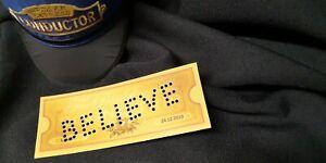 Polar Express Train Ticket PUNCHED HOLES - ANY NAME - envelope, Santas' Seal