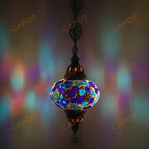 Turkish Moroccan Mosaic Ceiling Hanging Pendant Light Fixture Lamp Lantern