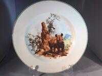 "WEDGWOOD WORLD WILDLIFE FUND DINNER PLATE BY DAVID SHEPHERD RHINOCEROS 10.5"""