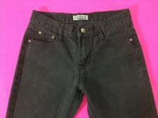 Loose Thread Girls Jeans Black Gray Size 12