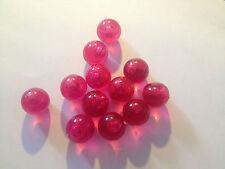 Bunte Bälle Kugeln f. Wassersäule - Wassersprudler 12er SET - rot - Murmel Ball