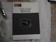 Honda OEM Owners Manual WN20 WN30 2001 60 Pages