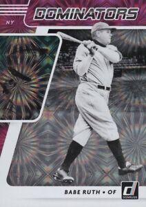 2021 Donruss Baseball DOMINATORS Pink, Diamond, Vector & Rapture Inserts ~ Pick