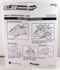 GI Joe 2004 Sky Sweeper Jet Original Instructions