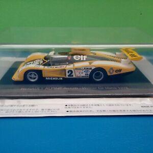 Modellino DIE CAST Renault Alpine A442B Le Mans 1978 1/43 Spark / Hachette Nuovo