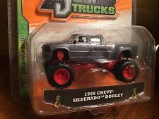 1999 '99 Chevy Silverado Dooley Dually 4X4 Pickup Truck Just Trucks Diecast Jada