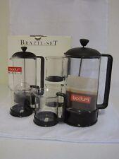 Bodum Brazil Basic French Press 3 Piece Set Plunger Mugs New