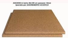ISOLANTE SUGHERO NATURALE PER ACUSTICA LASTRE 100x50cm sp.14mm conf. 2 LASTRE1MQ