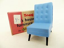 TRIANG SPOT-ON DOLL'S HOUSE FURNITURE '1007 G-PLAN TV CHAIR' MIB/BOXED. 1:16