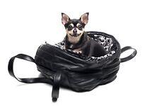 Nuevo con etiquetas inamorada hecho a mano Italiano Negro Suave Imitación Cuero Bolso de piel de perro portador &