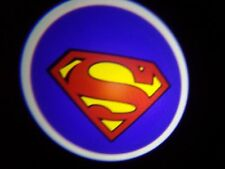 SUPERMAN ghost door lights CREE led bulb SHIPS FROM OHIO 2x logo puddle 7 watt