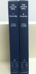 Anchor Bible Commentaries 1 & 2 Chronicles Jacob M. Myers hardcover, 1965