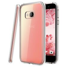 For HTC U Play - Tough Thin Clear TPU Gel Case Cover Skin