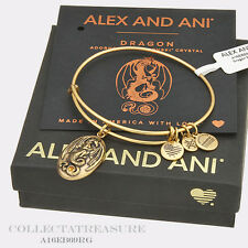 Authentic Alex and Ani Dragon Rafaelian Gold Bangle
