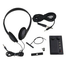 Black Electric Violin Silent EQ Pickup Piezo with Headphone and Plug Hole Cable