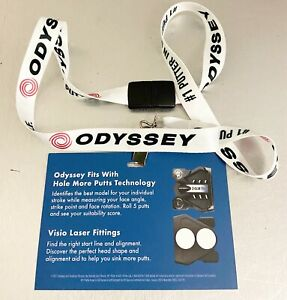 ODYSSEY GOLF Lanyard PGA SHOW Event Badge Holder 2 balls works stroke lab NEW