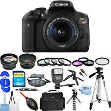Canon EOS Rebel T6i 24.2MP DSLR Camera with 18-55mm Lens!! MEGA BUNDLE!!