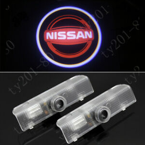 4Pcs Red 3D Logo LED Door Courtesy Laser Ghost Shadow Projector Light For Nissan
