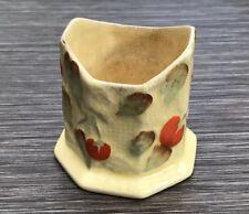 Fieldings Crown Devon Cherries Hand Painted Antique Pot - Damaged