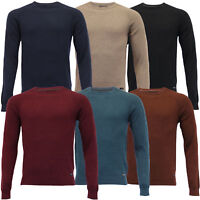 Mens Knitted Jumper Threadbare Sweater Pullover Top Crew Neck Cotton Winter New