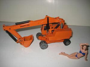 Broyt X 4 Excavatrice Pelle Mobile Orange #118.5 NZG 1:50 Rareté
