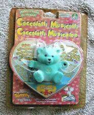 COCCOLOTTI MUSICOTTI GREEN BEAR: TOMMY! REALLY TALKS & SINGS! BRAND NEW, OS!