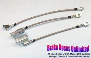 STAINLESS BRAKE HOSE SET Ford Torino 1968 1969 1970 1971, Disc
